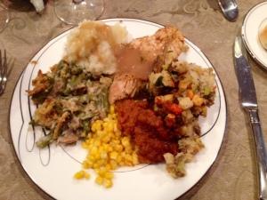 Friendsgiving dinner plate