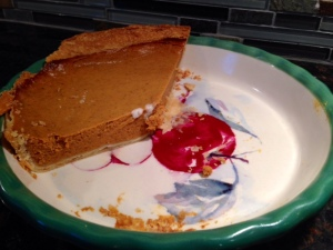 pumpkin pie leftover