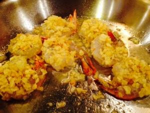 fried potato chip crusted shrimp