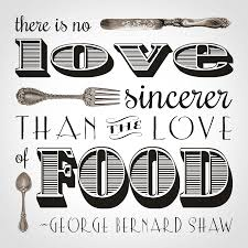 sincere love of food