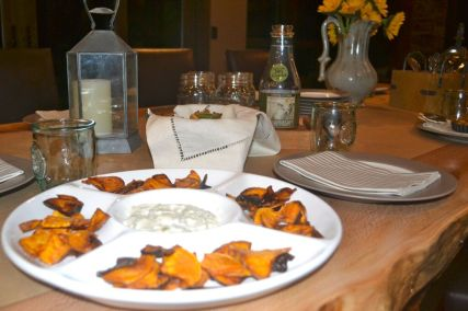 friendsgiving sweet potato chips