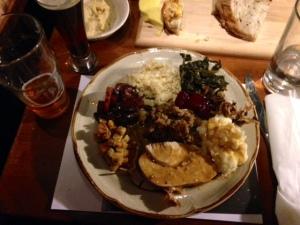 thanksgiving dinner my plate