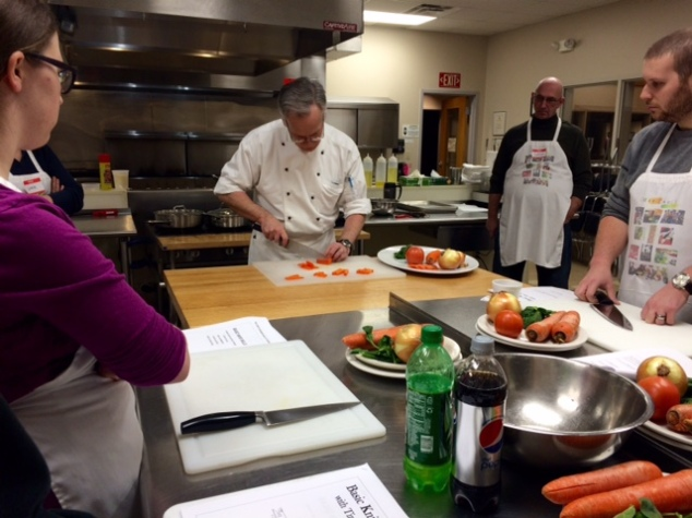 knife skills carrot demo