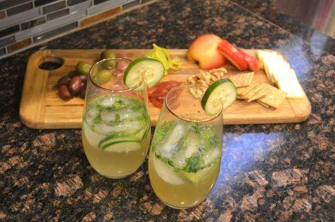 cocktails spring fling set up