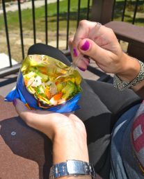portable picnic eating walking taco