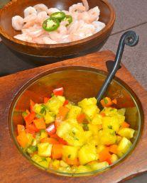 portable picnic pineapple salsa