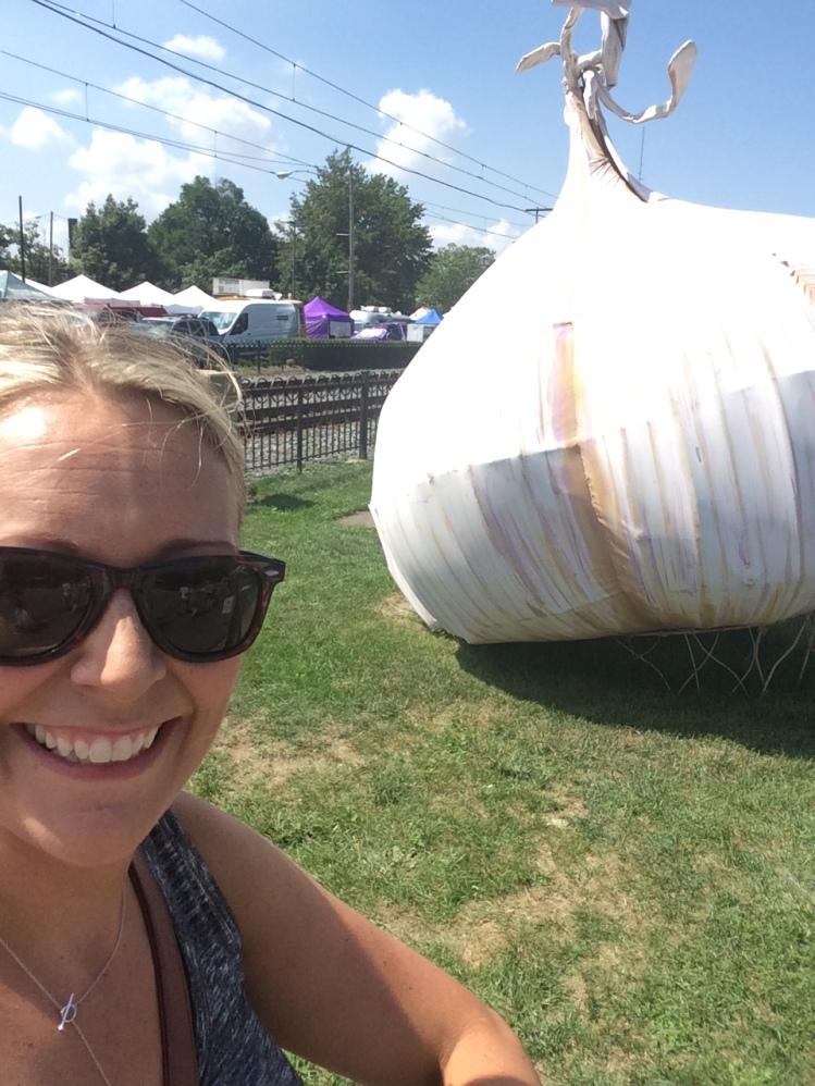 Jen at the Garlic Festival