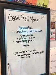 basil fest menu